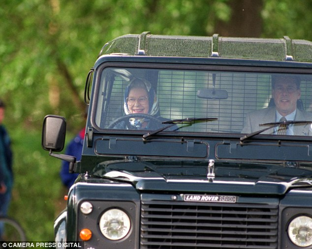HRH and Prince Andrew ahh Jaunting around on one of her estates.