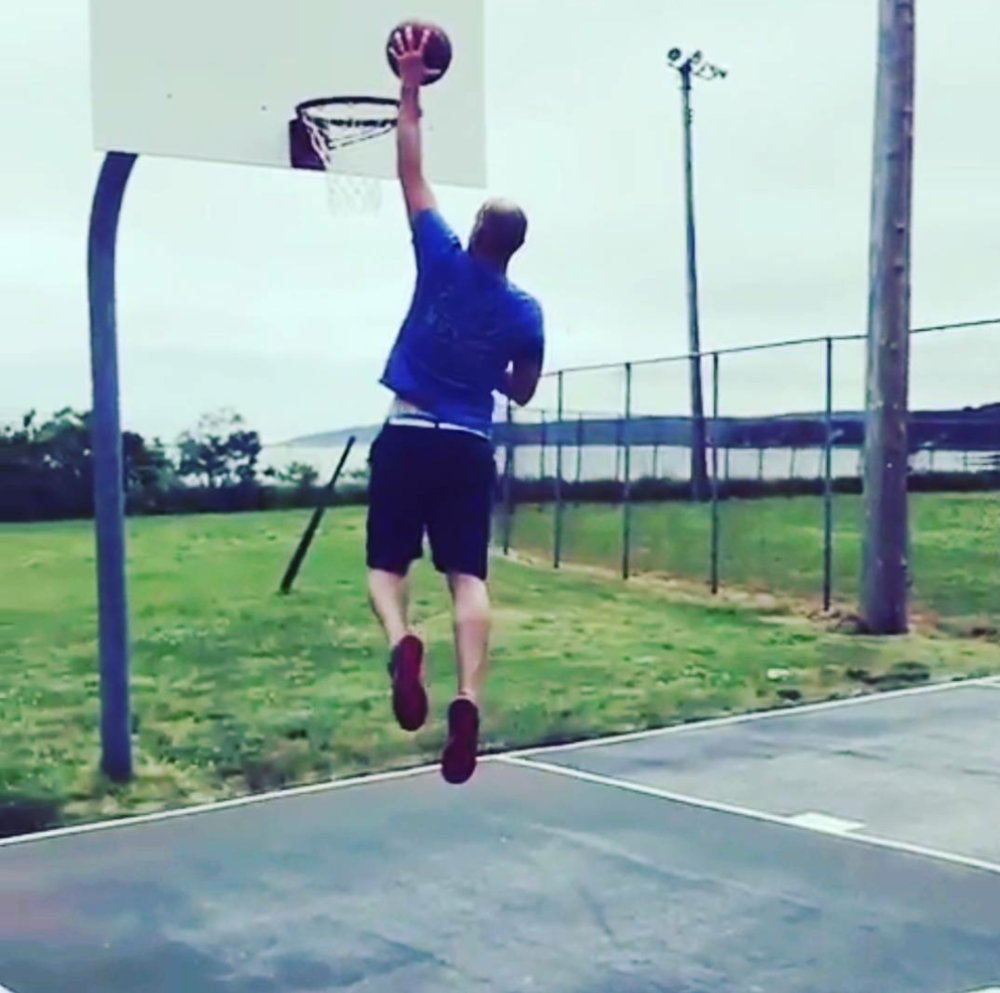 Dunking at 40 was a personal goal...mission accomplished!