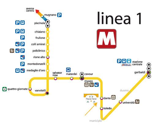 In metro: LINEA 1 fermata: piazza Quattro Giornate. - fermata: piazza Quattro Giornate.