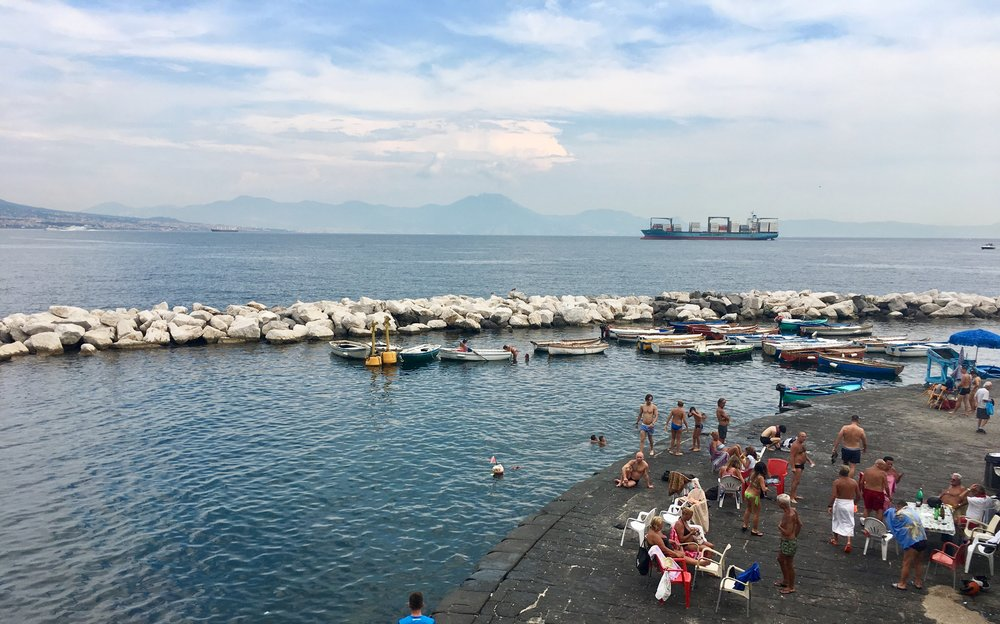 Swimming in Naples