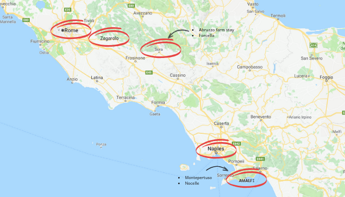 Italy zoomed in