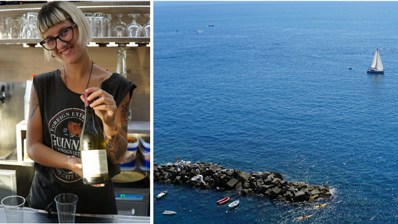 Wine from Bar Cochiglia, Riomaggiore (with epic views!)