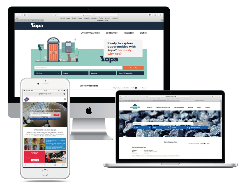 CAREERS WEBSITES - SHOWCASE YOUR EMPLOYER IDENTITYImprove candidate experience and streamline your recruitment with a fully branded high impact corporate careers website that is fully optimised for modern technology.