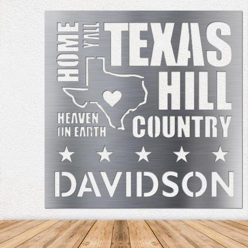 Texas Words - Metal Wall Art — Shop Engrave It Houston