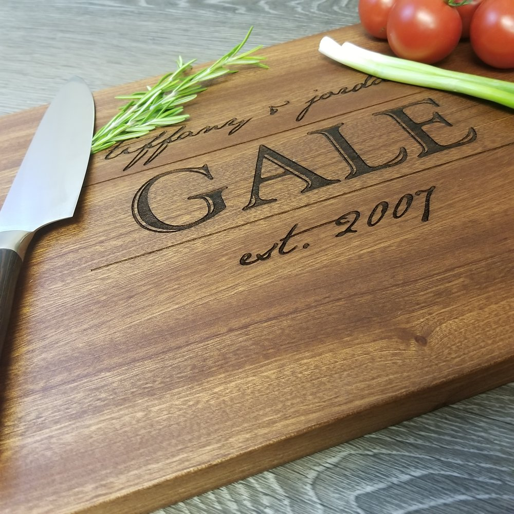 "Sapele Wood cutting Board - $79.9912"" x 15""FEW REMAINING! (**orders placed after an item has sold out will be fulfilled once our new inventory arrives. please contact us if you have any questions.)"