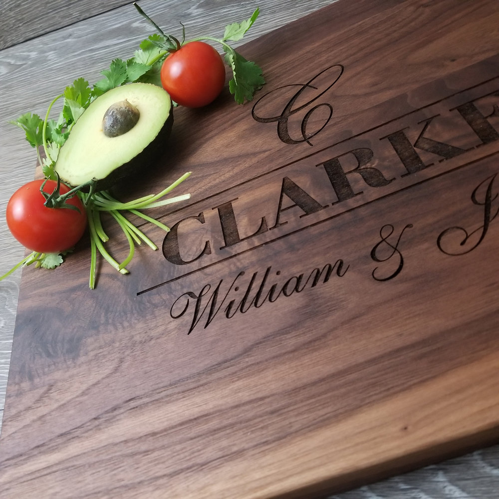 "Walnut WoodCutting Board - $77.9912"" x 15""CURRENTLY SOLD OUT! (**orders placed after an item has sold out will be fulfilled once our new inventory arrives. please contact us if you have any questions.)"
