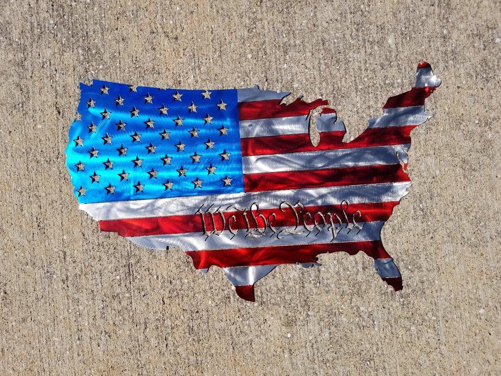 Patriotic Metal Wall Art