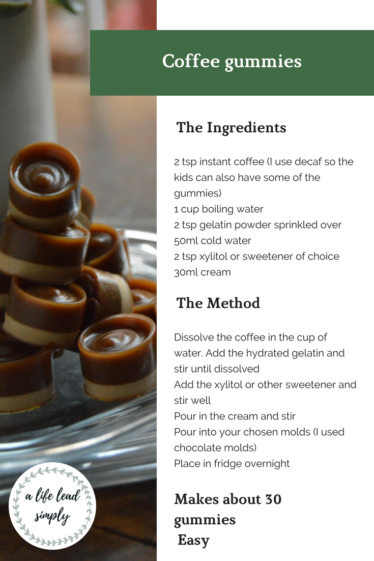 Recipe, Treat, Coffee gummies, Zero sugar, LCHF, A life lead simply, www.alifeleadsimply (4).png