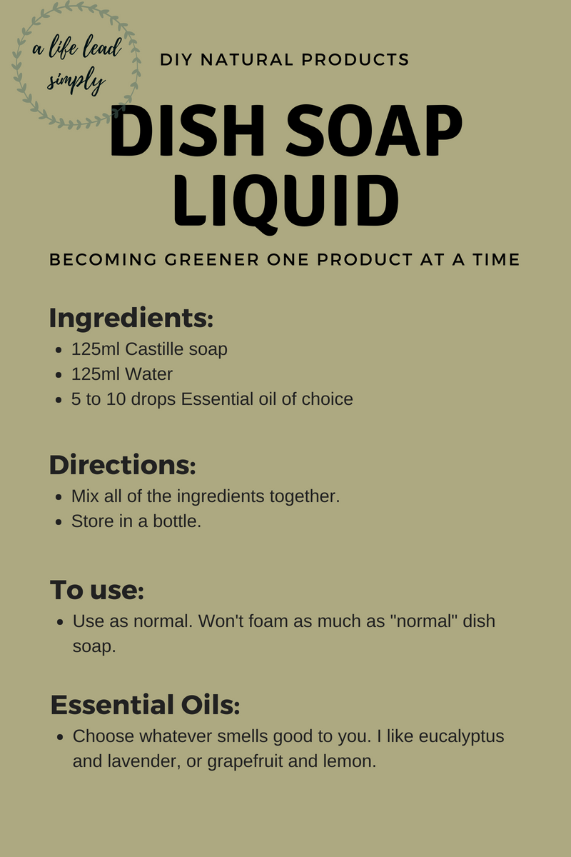 Homemade & natural: Laundry detergent, A life lead simply