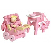 Doll set - Wooden toy sets, anything that they can use to play dress up and make-belief. This doll and pram set is from Faithful to Nature