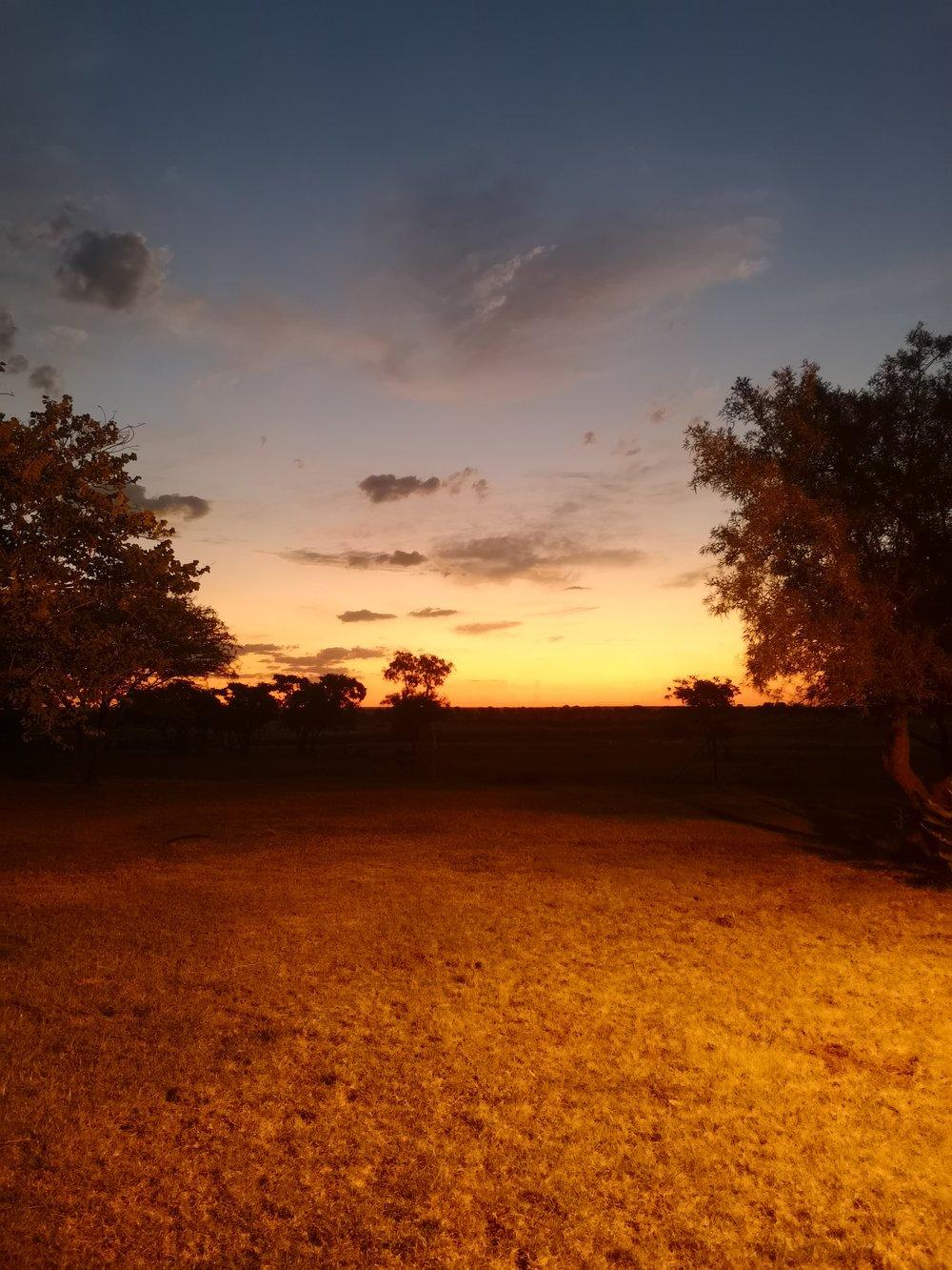 A life lead simply. Rising early: A Bushveld sunrise