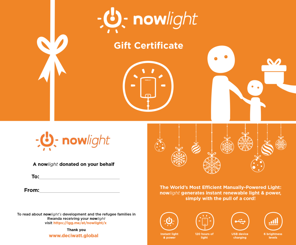 donated nowlight certificate