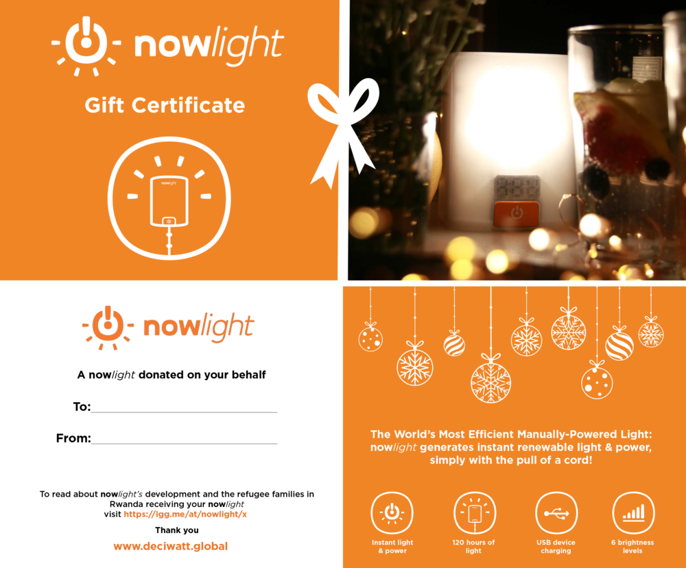 donated nowlight certificate photo
