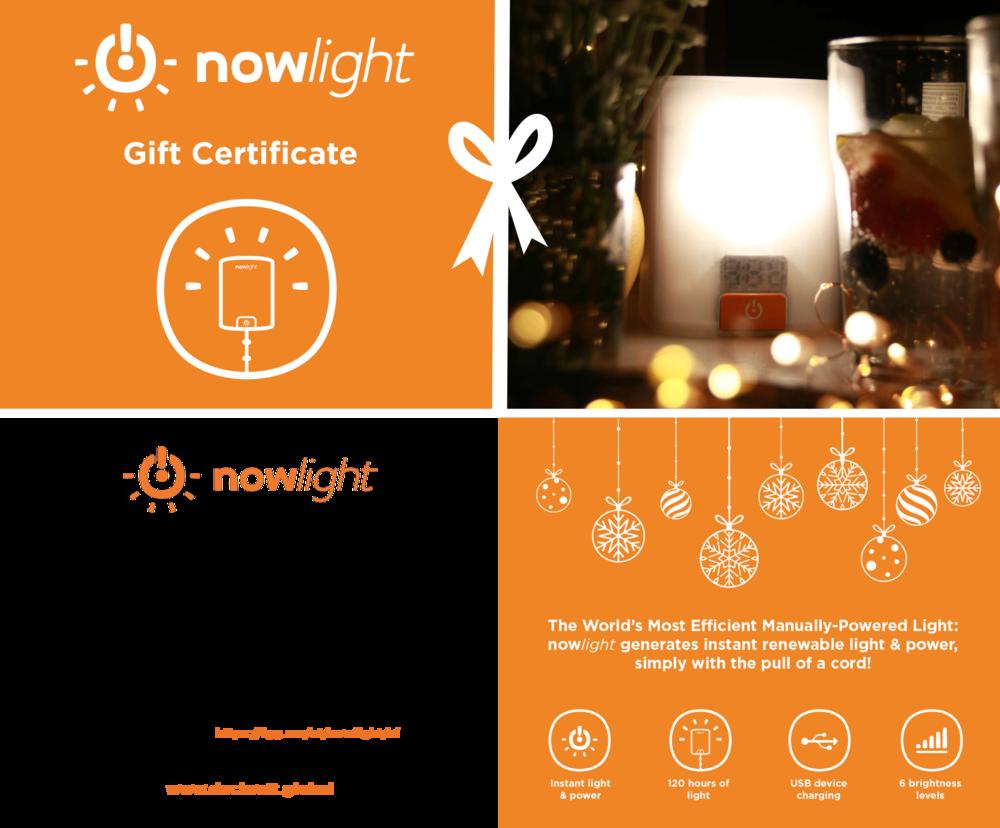 nowlight gift certificate photo