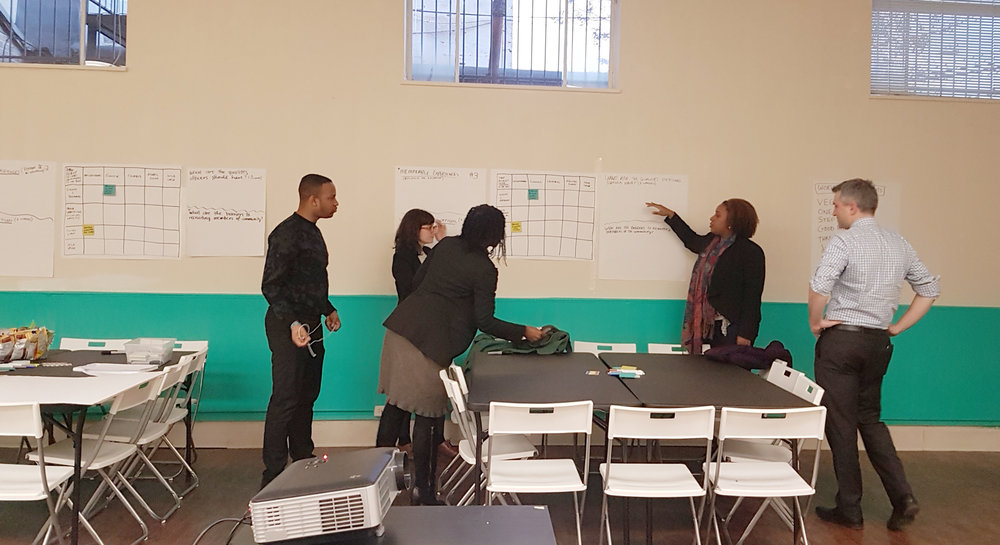 """The i-team prepares for a """"Best in Blue"""" workshop at No Boundaries Coalition"""