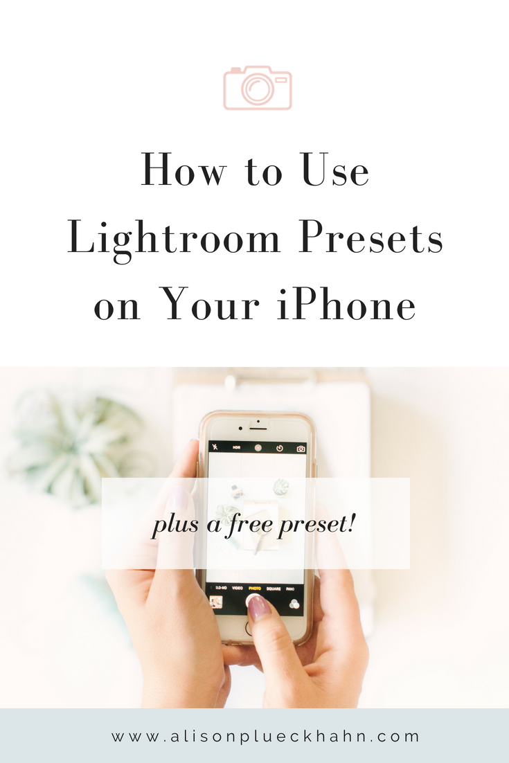 A step-by-step guide to using your own custom Lightroom presets on the Lightroom Mobile app... plus a free preset download!