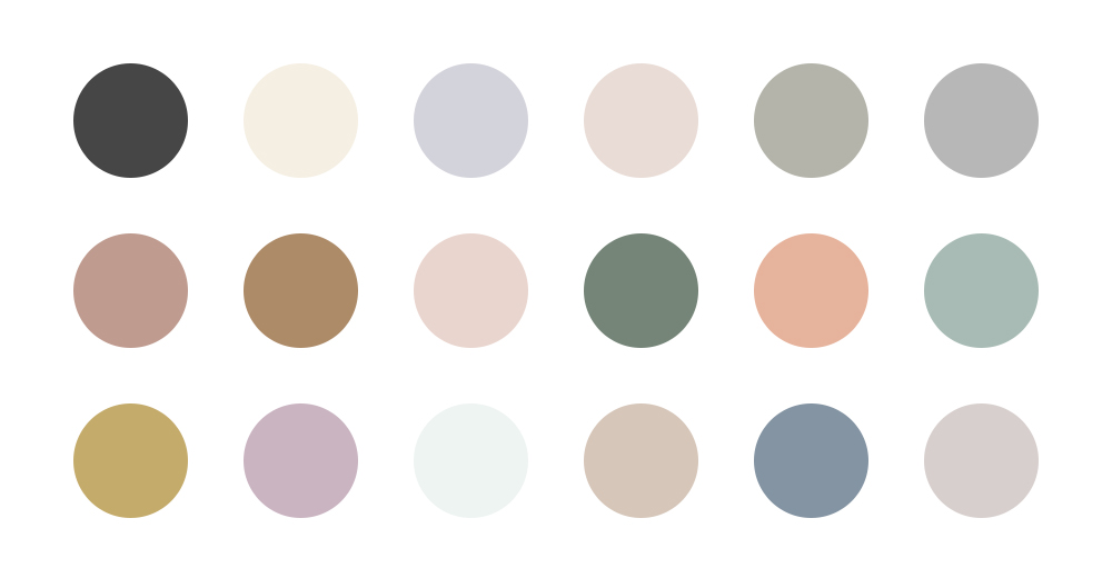nearly neutral color palette