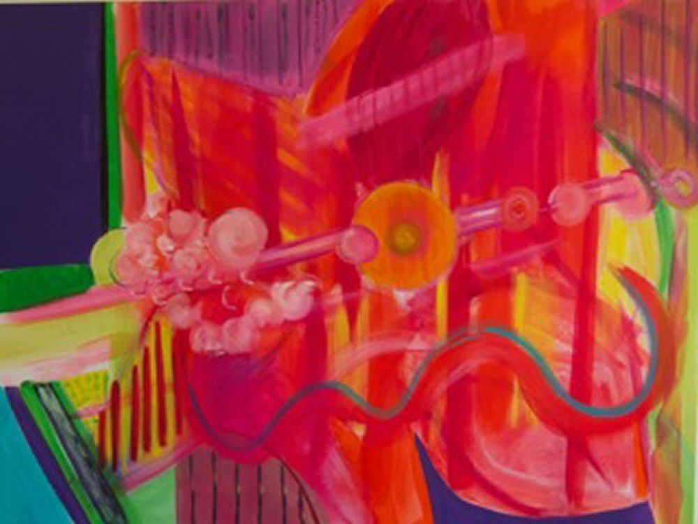 "Finding 30""x40"" 2011 acrylic on canvas  $950"