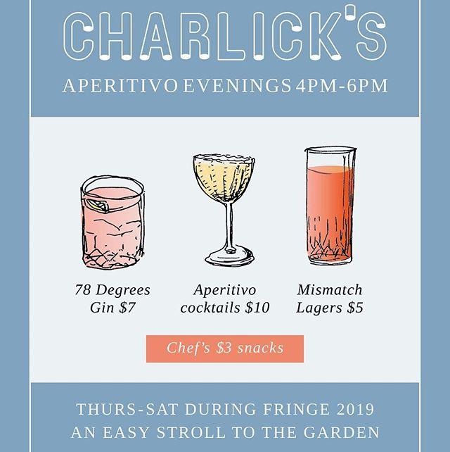 Sit on the fringe of the @adlfringe 😋  Pop in between 4-6pm and enjoy $10 cocktails • $3 snacks • $5 @mismatchbrewing lagers • $7 @adelaidehillsdistillery 78 degrees and tonic 🥃🍷🍺