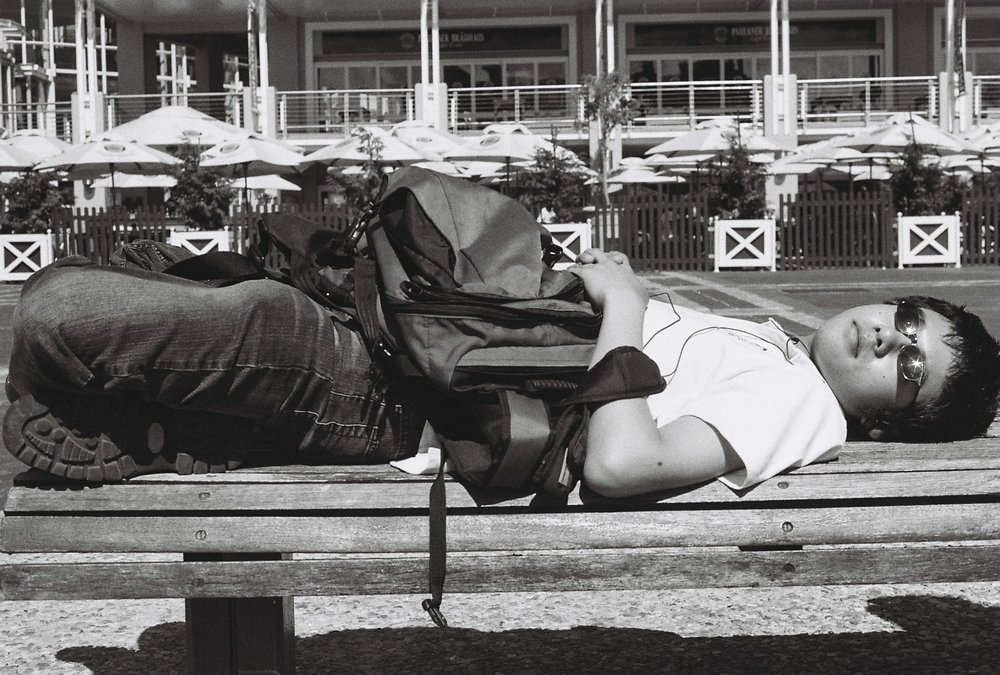 Travelling companion, Rick, taking time out, Cape Town, South Africa, 2008