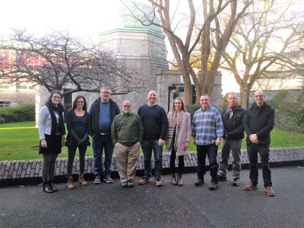 From left to right: Heloisa Lemmertz, Angie Nagel, Ger Mullally, Russell Gentry, Niall Dunphy, Emma Delaney, Larry Bank, Fergal Gough and Paul Leahy.