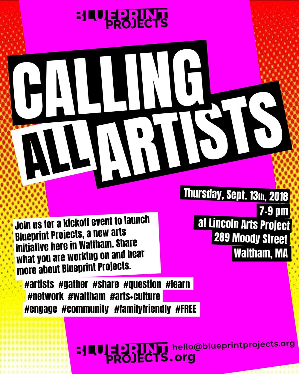 Calling All Artists - LAUNCH EVENT