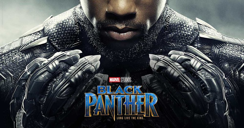 Black Panther, 2018 - In the first superhero movie with a mostly-black cast, T'Challa (Chadwick Boseman) returns home to his country, Wakanda, to claim the throne his late father, T'Chaka (John Kani) has left to him. He soon finds out that a previously unknown relative, Erik Killmonger (Michael B. Jordan), is willing to fight him for it.