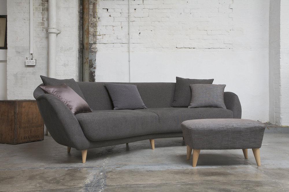 Wave sofa & footstool, Tamarisk Designs