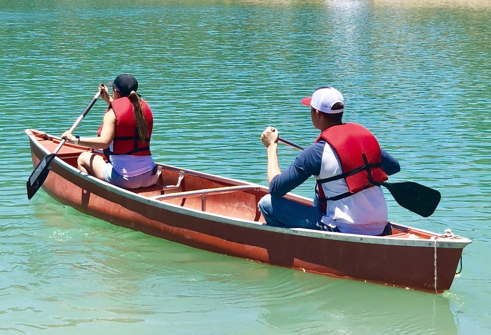 Canoes - Canoeing is a great way to spend time together.