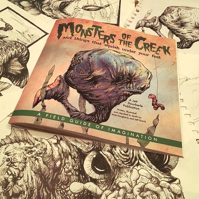 So proud of this book! Sprig is almost here! Grab your field guide and start exploring! Link in bio. #fieldguide #childrensbook #childrenillustration #penandink #monstersofthecreek #thegrumpypumpkin #doughertybirds #kidsbooks #illustration #monsters