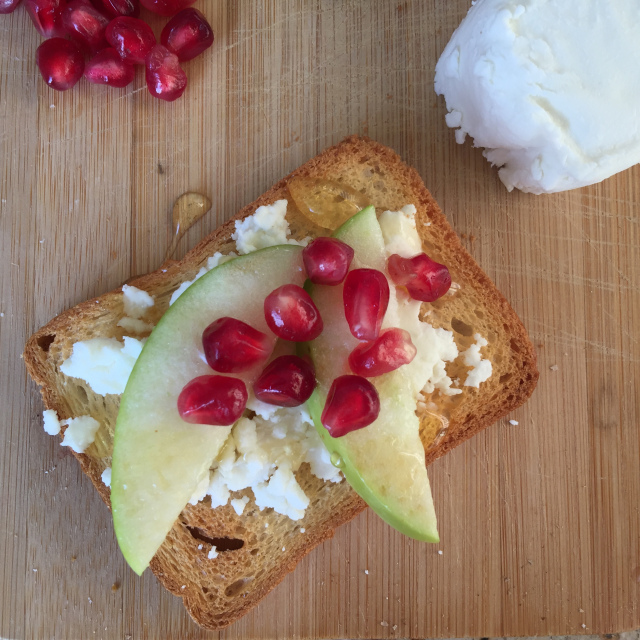 Goat Cheese, Apple & Pomegranate Aril Toast 1.jpeg
