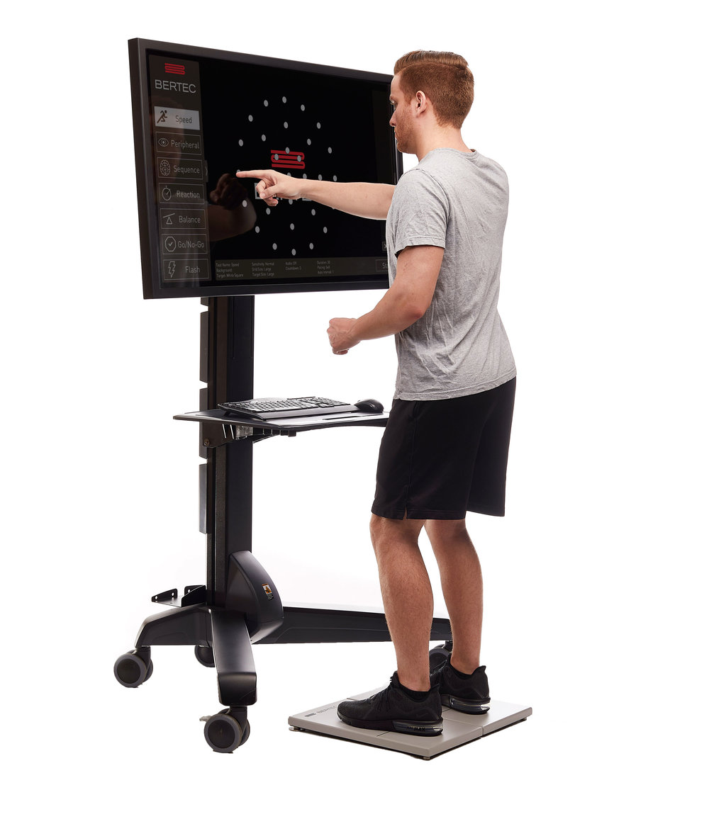 React faster - Bertec implements a series of hand-eye coordination-based training modes. These trainings provide a stimulus that the user must identify and respond to by physically touching the target in the quickest possible manner.