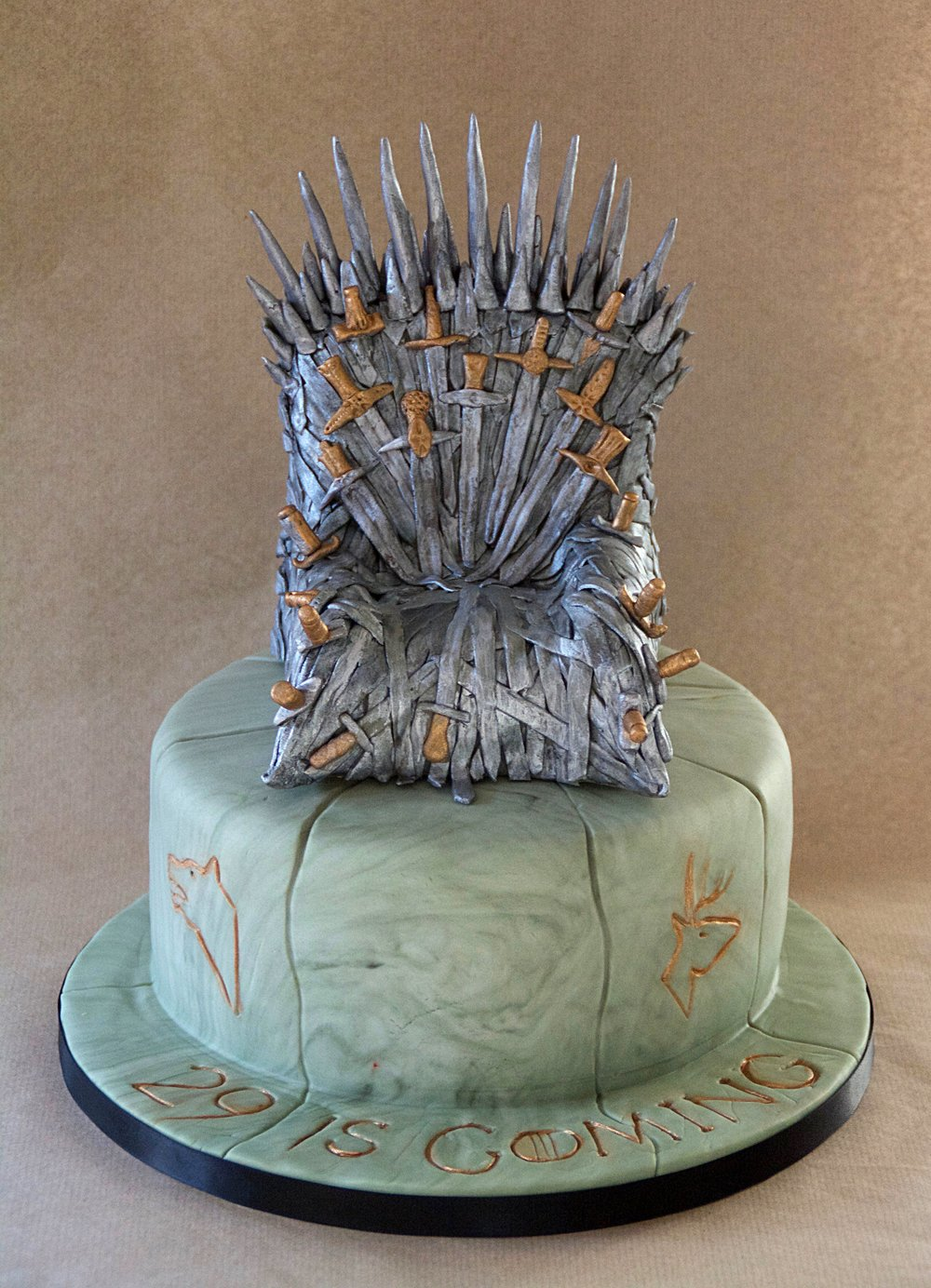 Game of Thrones iron chair birthday cake