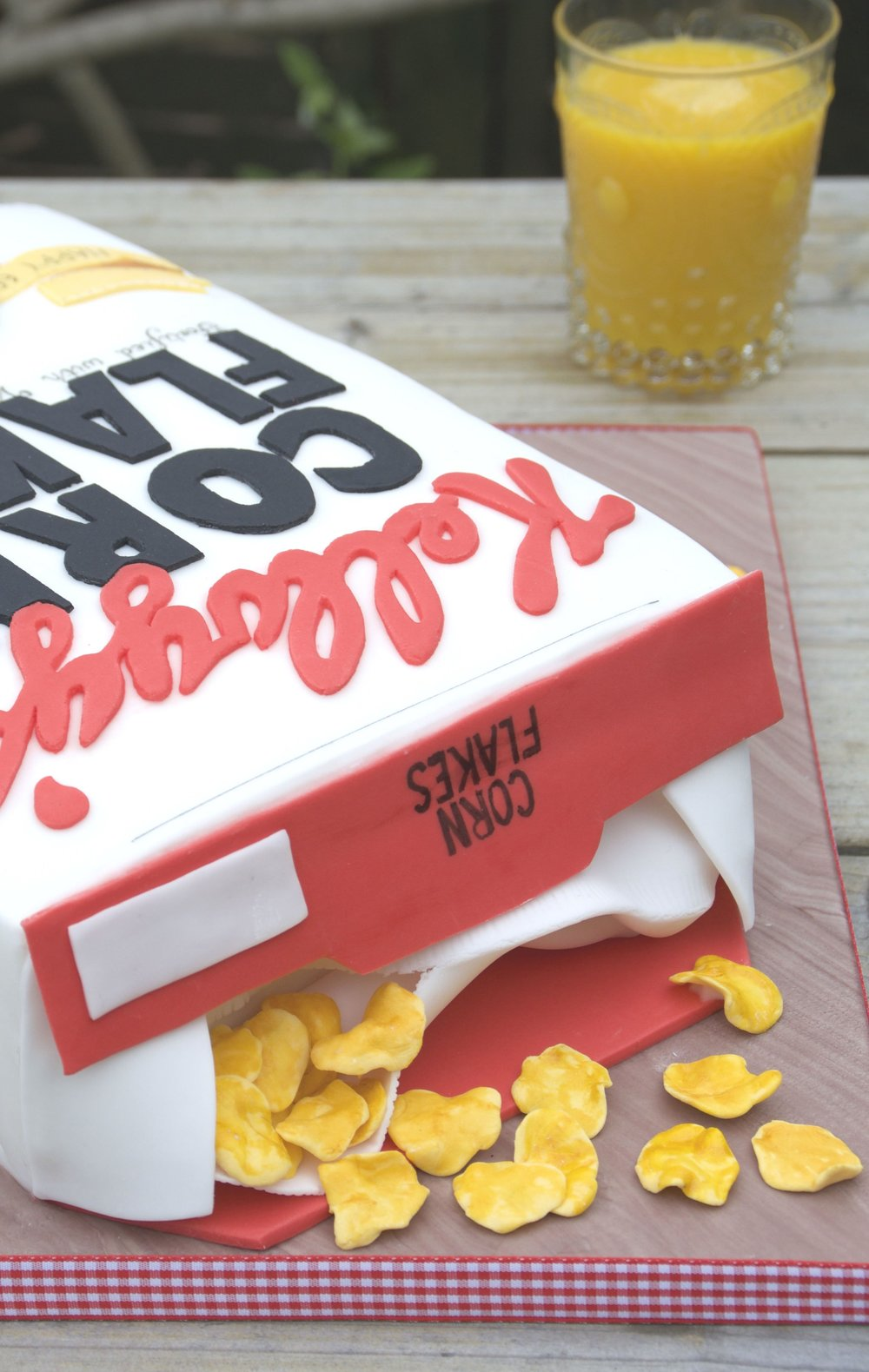Kellogg's cornflake box birthday cake