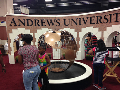 Andrews University had a cool replica of part of their campus.