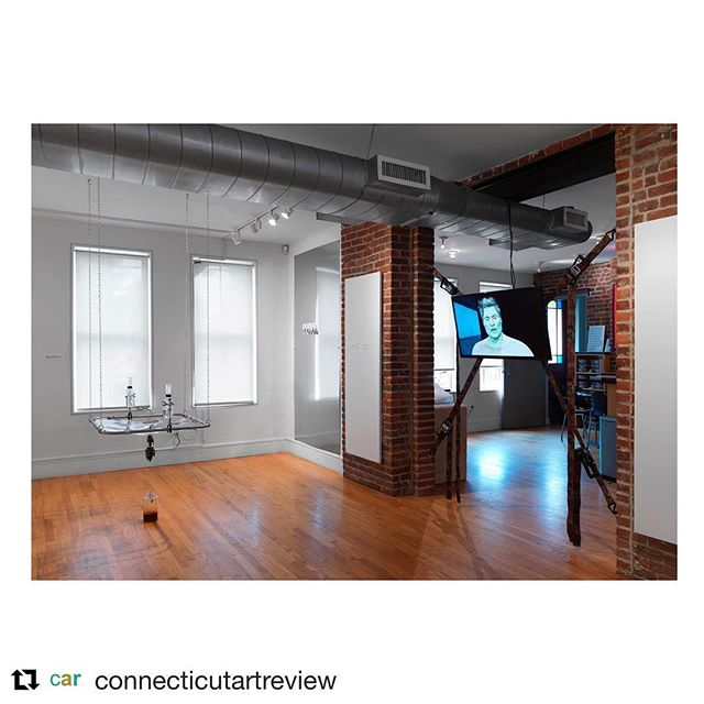Check out @jacquelyn.gleisner 's review of @jeffostergren 's exhibition 'False Flag' @franklinstreetworks on @connecticutartreview and be sure to listen to both of their interviews on The First Stop #podcast!  @get_repost ・・・ Today on the blog, read my latest review of 'False Flag: The Space between Reason and Paranoia' on view at Franklin Street Works through January 6. Impossible as it might have seemed to me two years ago, certain conspiracies have been realized. Meme warfare, for instance, has had all too real consequences for our political system. Read more about how artists are working with this theme in the exhibition, which was curated by New Haven artist, Jeff Ostergren.  www.connecticutartreview.com  Image:  False Flag installation shot. Left to right: Son Kit, Juliana Huxtable, Theodore Darst. Credit: Object Studies.  #SonKit #TheordoreDarst #FalseFlag #FranklinStreetWorks #JeffOstergren #julianahuxtable #ConnecticutArtReview #Conspiracy @jeffostergren @theodoredarst @franklinstreetworks @sonk.it @julianahuxtable