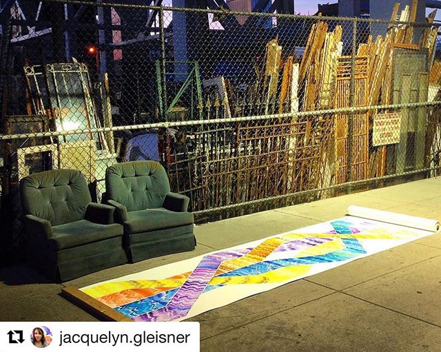 @jacquelyn.gleisner was just interviewed on another podcast. Have a listen! #Repost @jacquelyn.gleisner with @get_repost ・・・ Listen to my interview on the podcast, Table to Stage! Thanks again, Jordan, for coming by my studio and chatting with me about my work and travels. There's a link to the podcast in my bio and you can find it on https://tabletostage.podbean.com/ • In the interview, I talk about my series of Scrolls. ➿This is one of my favorite images from the series— this one is posted up next to these two cozy chairs under the highway in Gowanus.  IMAGE: 'Scroll IV' (2014). Ink, gouache on paper, 3.5 by 30 feet.  #tabletostage #contemporaryart #scrolls #jacquelyngleisner #podcast #artistinterview #linkinbio #gowanus @table2stage #artpodcast #artistsoninstagram