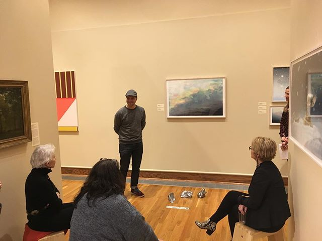 "@josephsmolinski gave a fantastic artist talk at the Mattatuck Museum where he has work in the exhibition ""Convergence: Meditations on the American Landscape"" Be sure to listen to his interview on The First Stop! #contemporaryart #josephsmolinski #podcast #artpodcast"