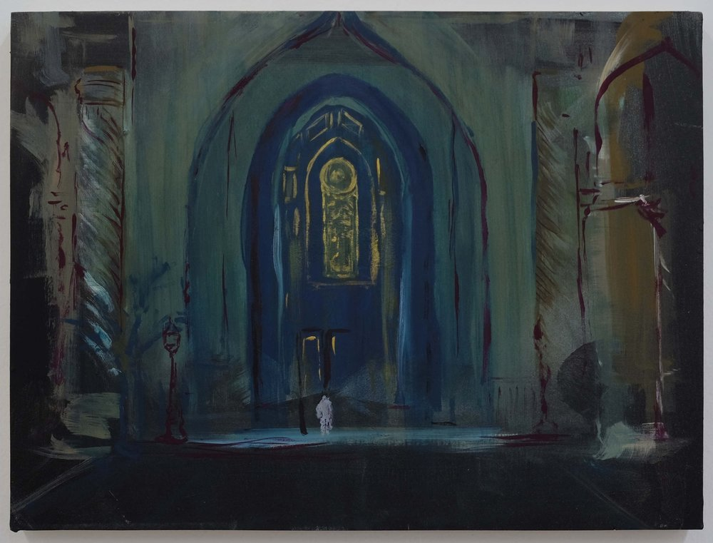 Gerald Sheffield,  Al Faw Palace I,  (Flashe on panel) 12x16 inches.