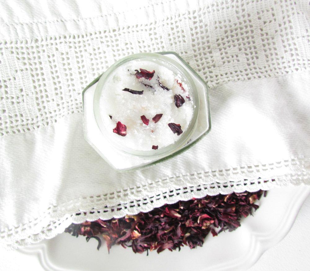 Soothing Rose Hibiscus Sheep Milk Sugar Scrub.jpg