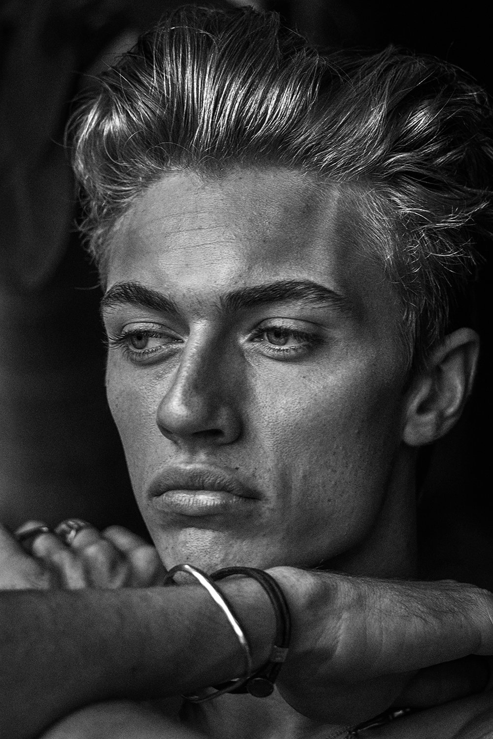 Lucky Blue Smith - Grooming by Mira Chai Hyde