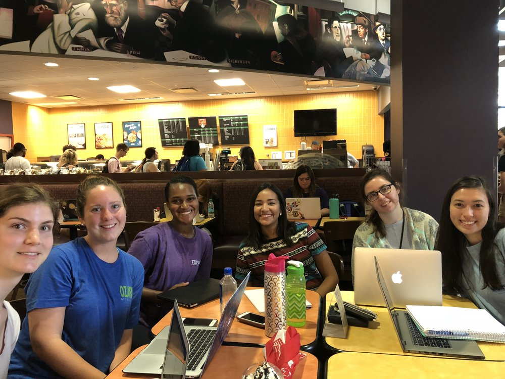 LSU FALL 2018 L to R: Emma, Peyton, Kayla, Grace, Diamond, Andrea