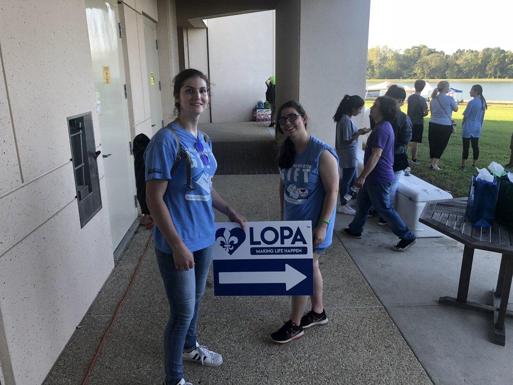 LSU Students help prepare for Rabalais Run for Life
