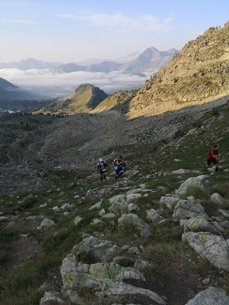 The  scenery for the Grand Raid des Pyrenees was breathtaking . But the rain, mist and clouds meant visibility was often very bad