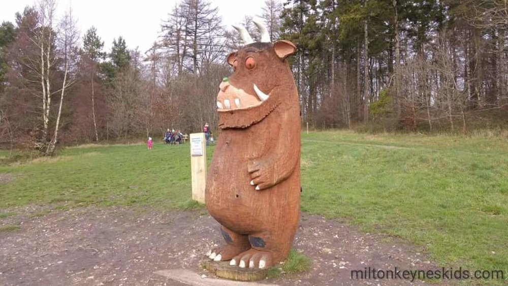 The Gruffalo is one of the attractions on the course at the Wendover Woods 50 mile race.