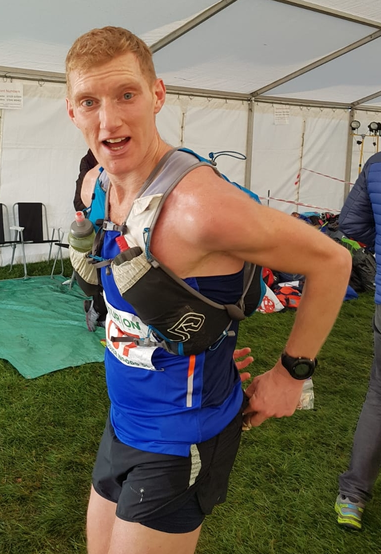 Here's me wearing   Ultimate Direction's Scott Jurek Ultra Vest   during the Wendover Woods 50 mile race.  I'm not sure what the look on my face is all about… But I'm probably saying that it's a great bag and you should buy it!