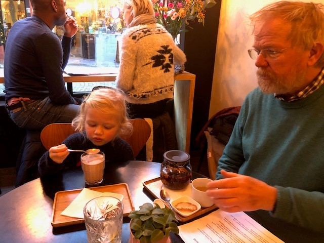 Our family trip to Bruges meant that we had some great time together… But also meant that I over-indulged. But Rosie tried to support me and makes me feel better by indulging in hot chocolate with her grandad too!