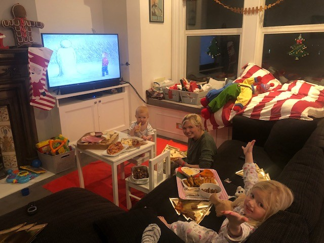 We celebrated a mini family Christmas with wine, cheese, meat and The Snowman as a special treat