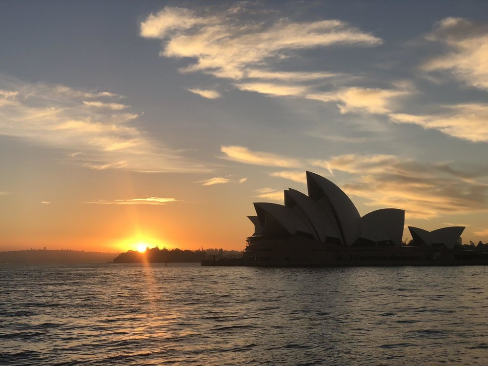 Seeing a sunrise at Sydney Opera House was a highlight of one of my runs in my time in Australia