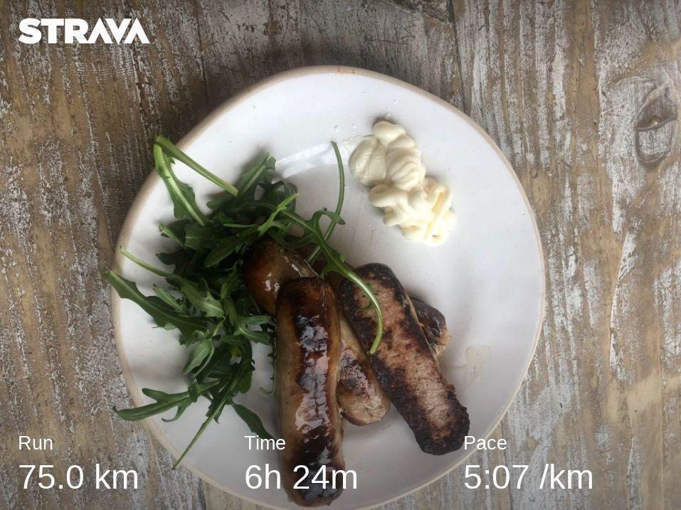 Sausage Stop on 75km Run